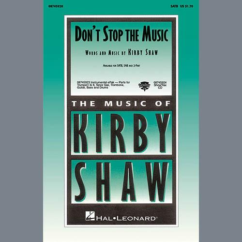 Kirby Shaw, Don't Stop The Music - Bb Tenor Saxophone, Choir Instrumental Pak