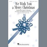 Download or print Kirby Shaw We Wish You A Merry Christmas Sheet Music Printable PDF 4-page score for A Cappella / arranged SATB Choir SKU: 182444.
