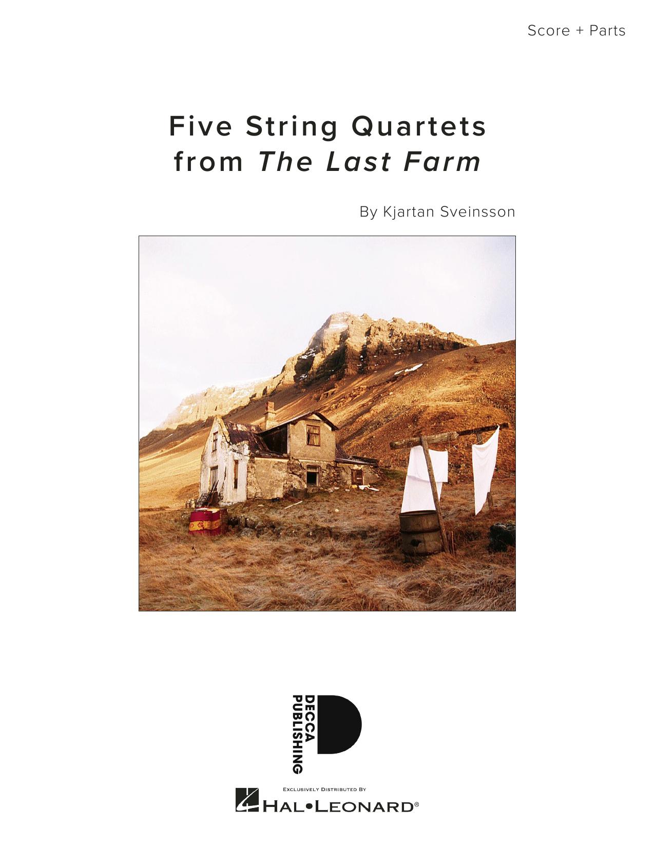 Kjartan Sveinsson Five String Quartets from The Last Farm - Full Score sheet music notes and chords. Download Printable PDF.