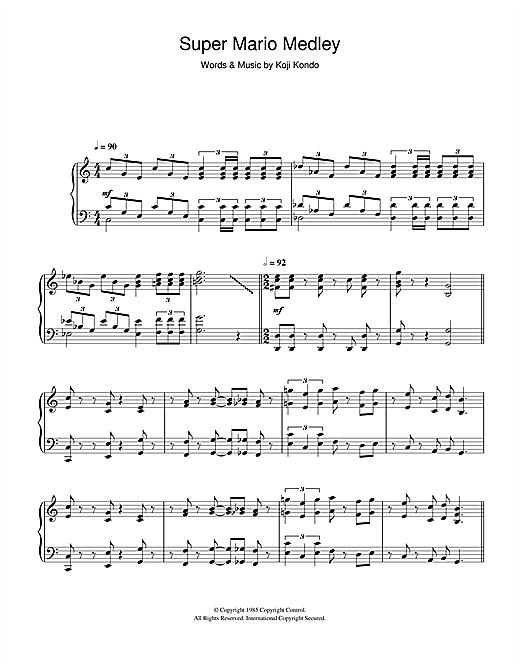 Koji Kondo Super Mario Bros Theme Sheet Music Pdf Notes Chords World Score Piano Solo Download Printable Sku 114119