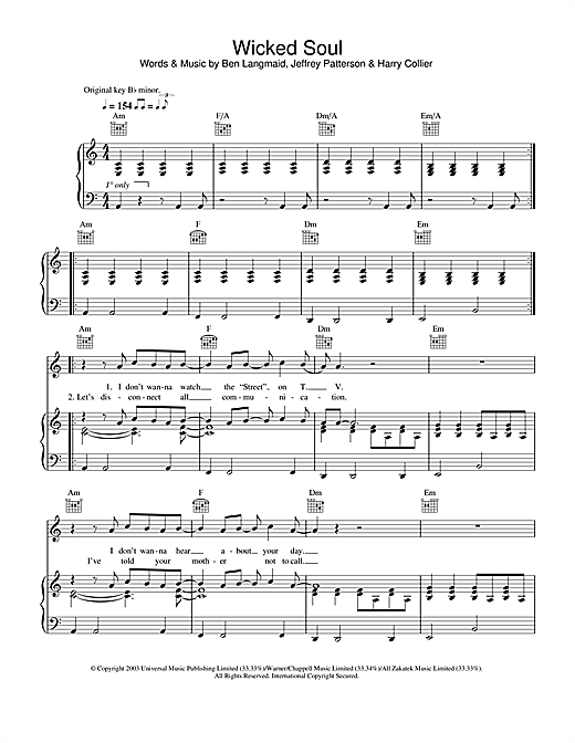 Kubb Wicked Soul sheet music notes and chords. Download Printable PDF.