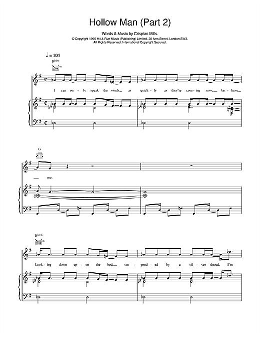 Kula Shaker Hollow Man (Part 2) sheet music notes and chords