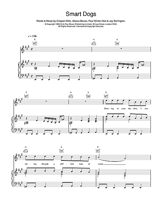Kula Shaker Smart Dogs sheet music notes and chords