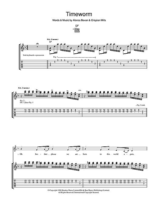 Kula Shaker Timeworm sheet music notes and chords. Download Printable PDF.