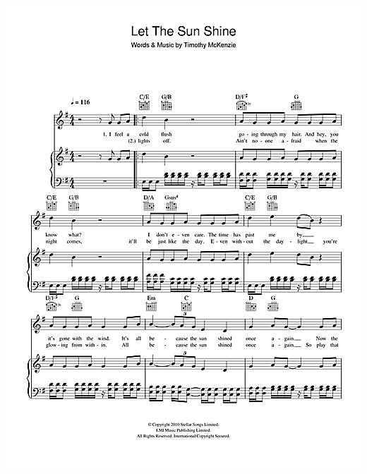 Labrinth Let The Sun Shine sheet music notes and chords. Download Printable PDF.