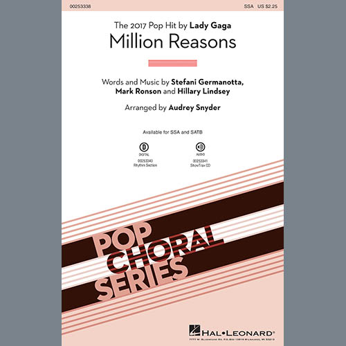 Easily Download Lady Gaga Printable PDF piano music notes, guitar tabs for Choir Instrumental Pak. Transpose or transcribe this score in no time - Learn how to play song progression.