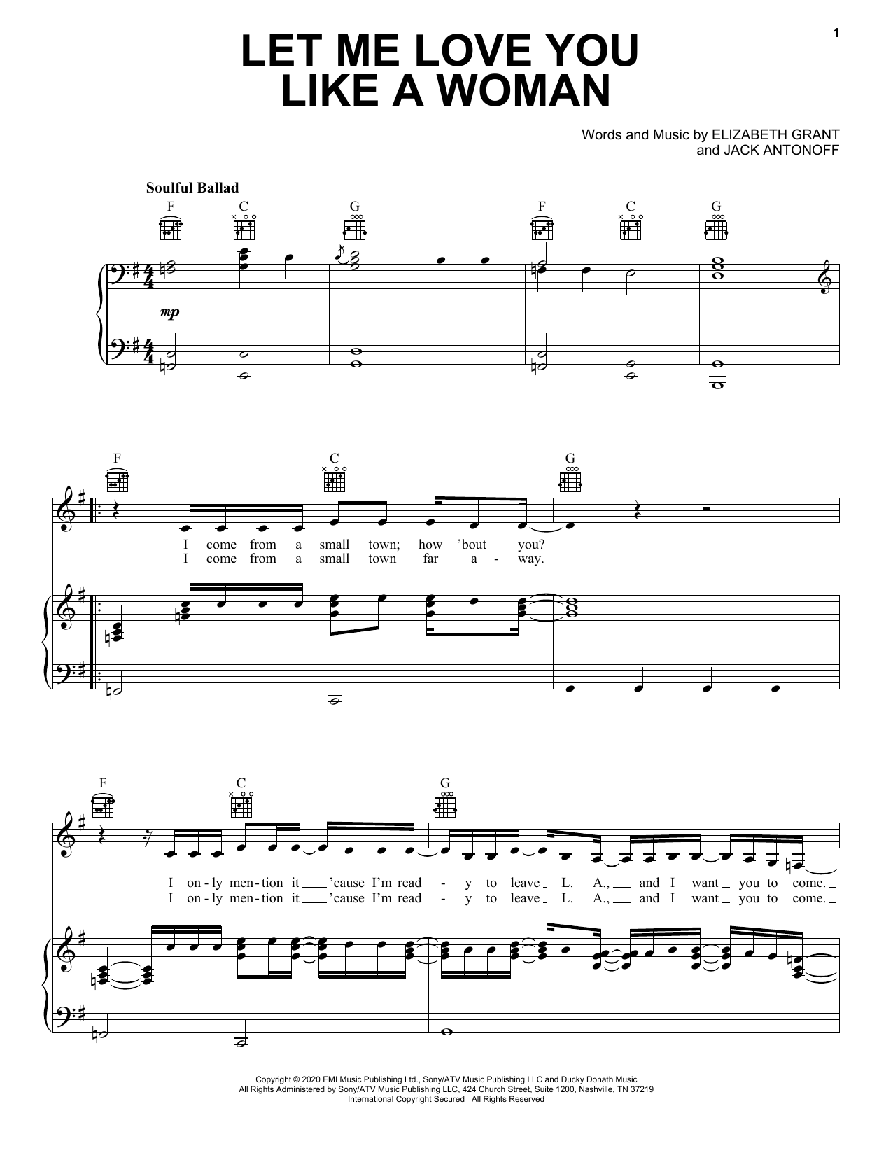 Lana Del Rey Let Me Love You Like A Woman sheet music notes and chords. Download Printable PDF.