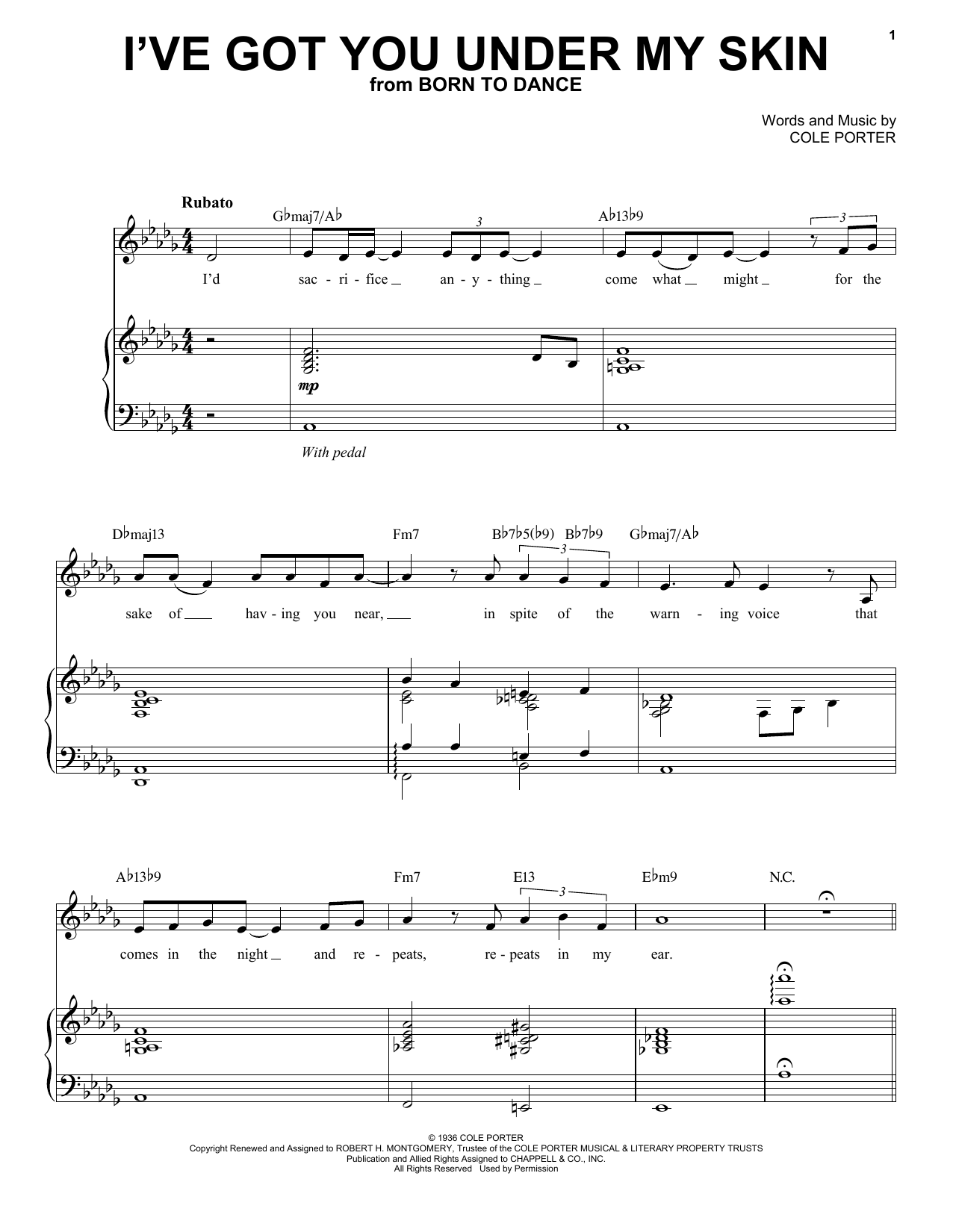 Landau Eugene Murphy, Jr. I've Got You Under My Skin sheet music notes and chords. Download Printable PDF.