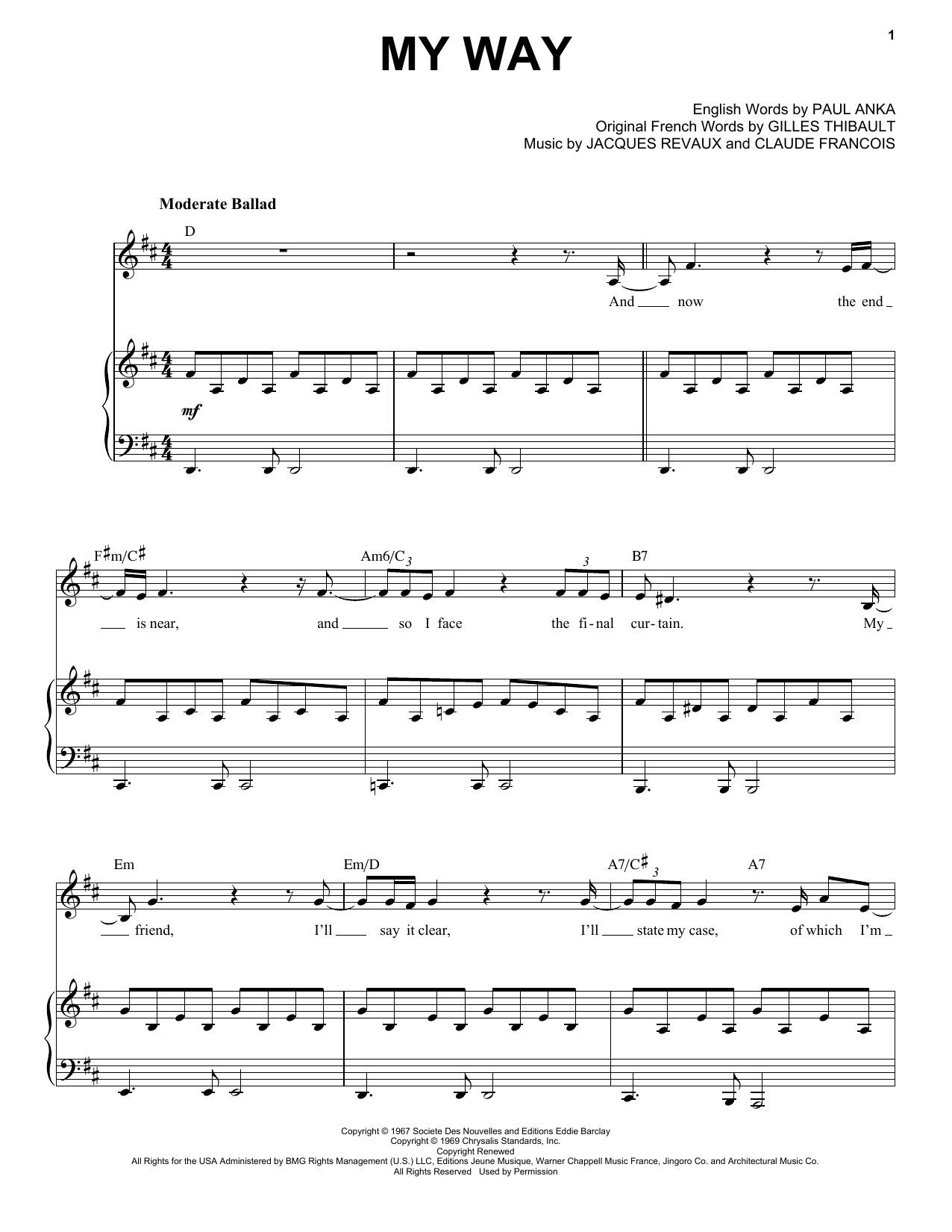Landau Eugene Murphy, Jr. My Way sheet music notes and chords. Download Printable PDF.