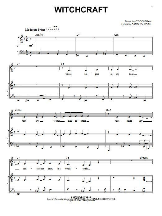 Landau Eugene Murphy, Jr. Witchcraft sheet music notes and chords. Download Printable PDF.
