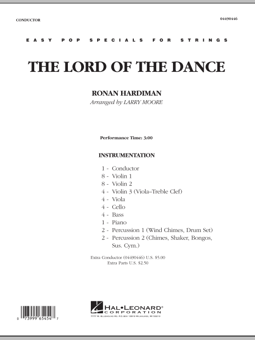 Larry Moore Lord Of The Dance - Full Score sheet music notes and chords. Download Printable PDF.