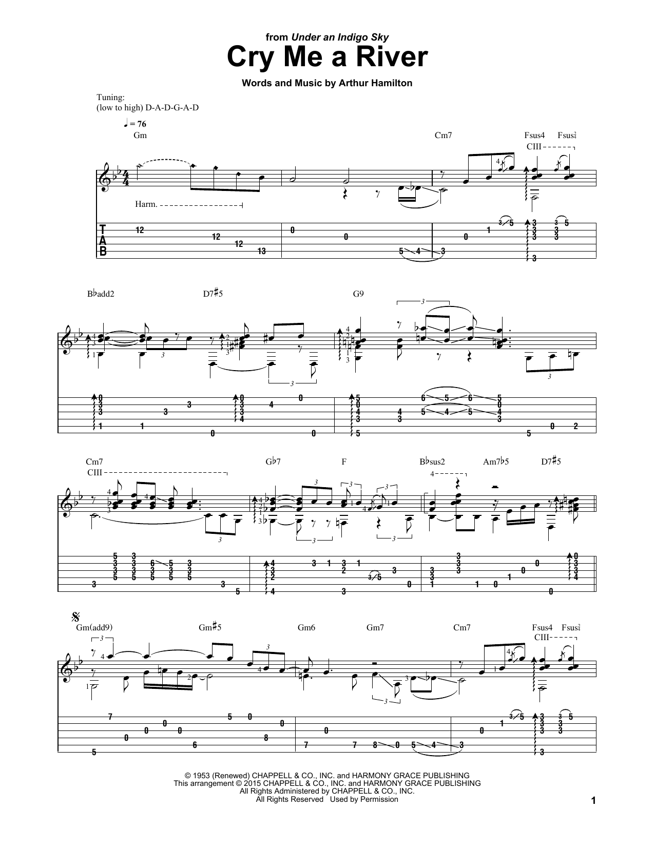 Laurence Juber Cry Me A River Sheet Music Pdf Notes Chords Pop Score Guitar Tab Download Printable Sku 163939