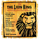 Download Lebo M., Hans Zimmer, Jay Rifkin and Julie Taymor 'Endless Night (from The Lion King: Broadway Musical)' Printable PDF 6-page score for Disney / arranged Piano, Vocal & Guitar (Right-Hand Melody) SKU: 85809.