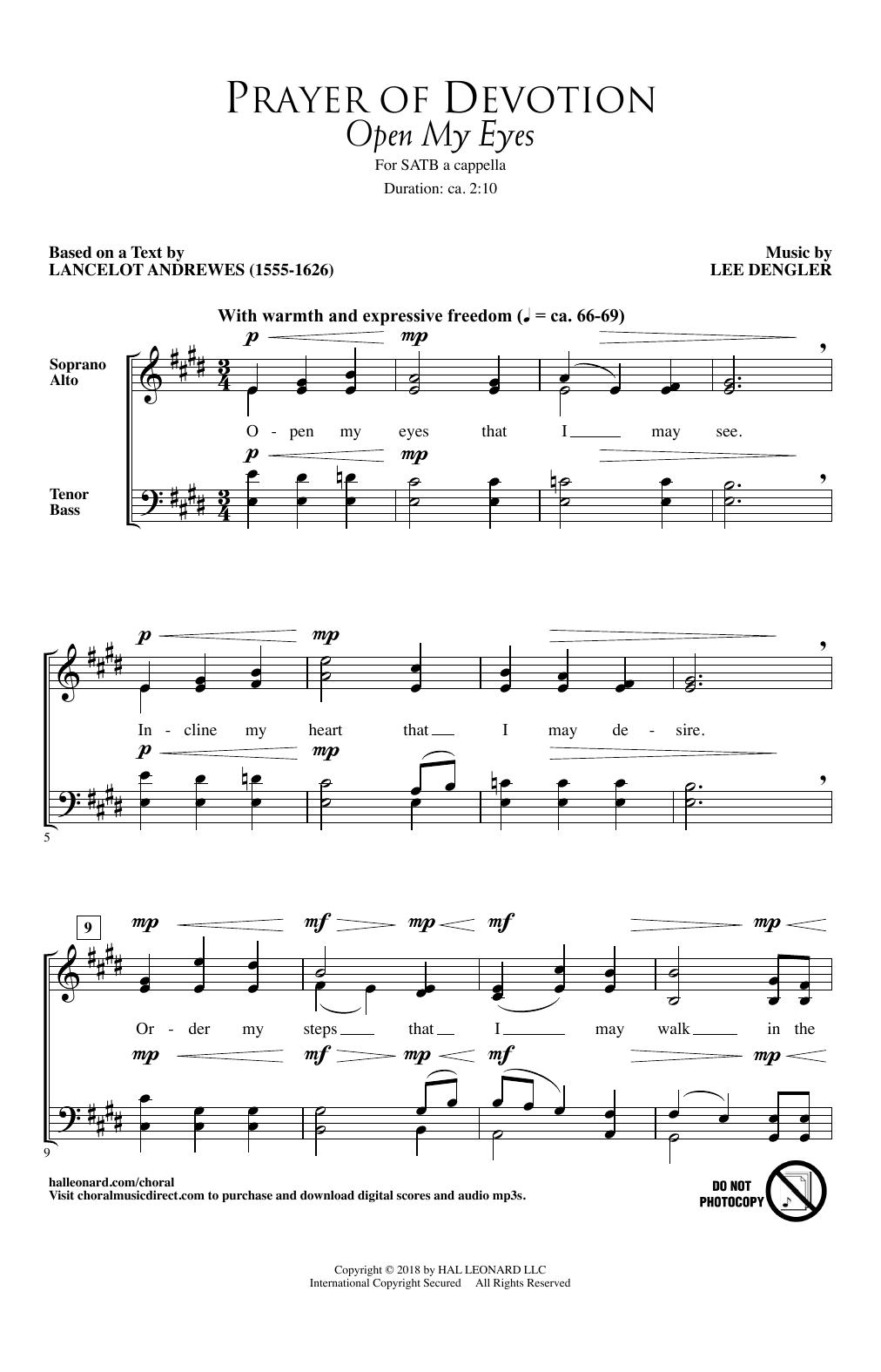 Lee Dengler Prayer Of Devotion (Open My Eyes) sheet music notes and chords. Download Printable PDF.
