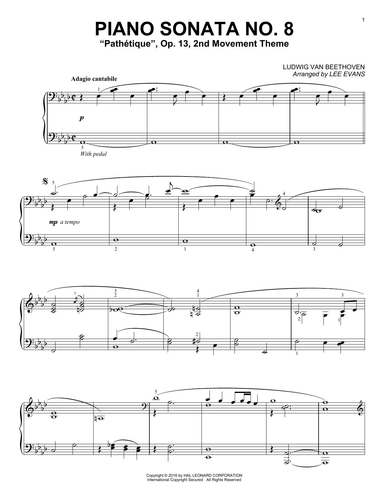 Lee Evans Piano Sonata No. 8, Op. 13 (