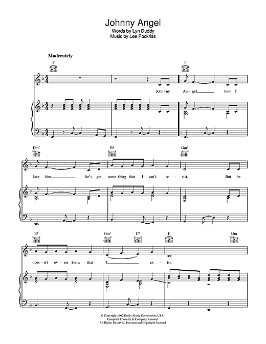 Lee Poskriss Johnny Angel sheet music notes and chords. Download Printable PDF.