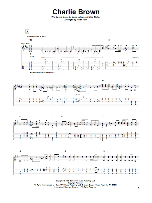 Leiber And Stoller Charlie Brown sheet music notes and chords. Download Printable PDF.