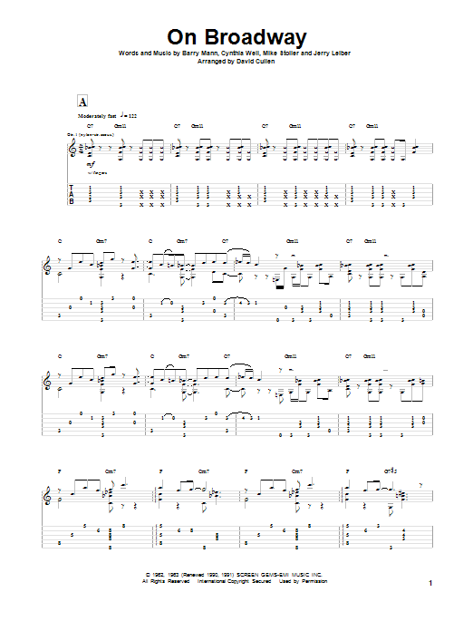 Leiber & Stoller On Broadway sheet music notes and chords. Download Printable PDF.