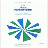 Download or print Lennie Niehaus 10 Jazz Inventions (altos) Sheet Music Printable PDF 22-page score for Jazz / arranged Woodwind Ensemble SKU: 371213.