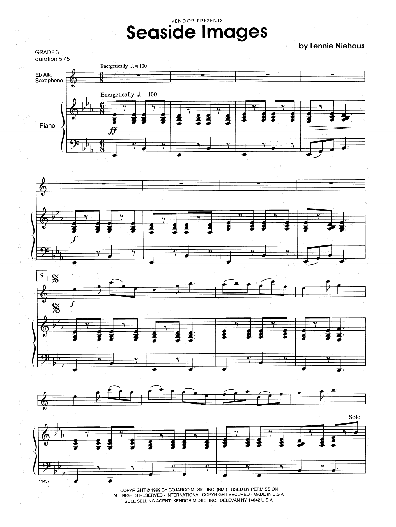Lennie Niehaus Seaside Images - Piano Accompaniment sheet music notes and chords. Download Printable PDF.