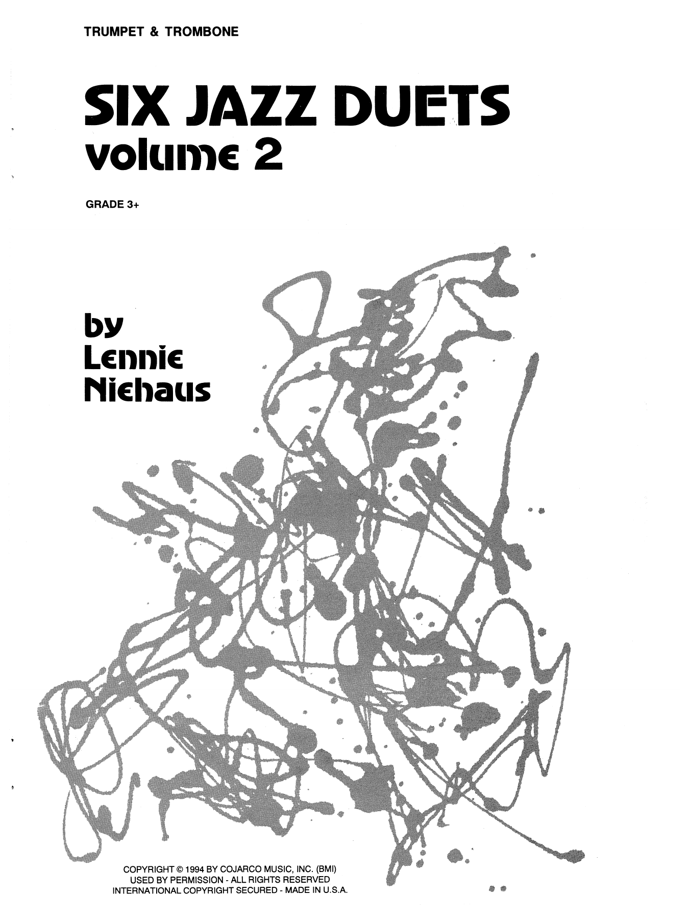 Lennie Niehaus Six Jazz Duets, Volume 2 sheet music notes and chords