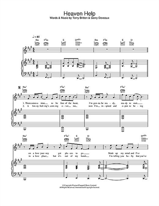 Lenny Kravitz Heaven Help sheet music notes and chords. Download Printable PDF.