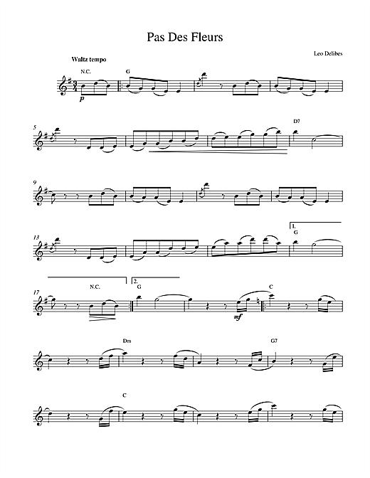 Leo Delibes Pas Des Fleurs sheet music notes and chords. Download Printable PDF.
