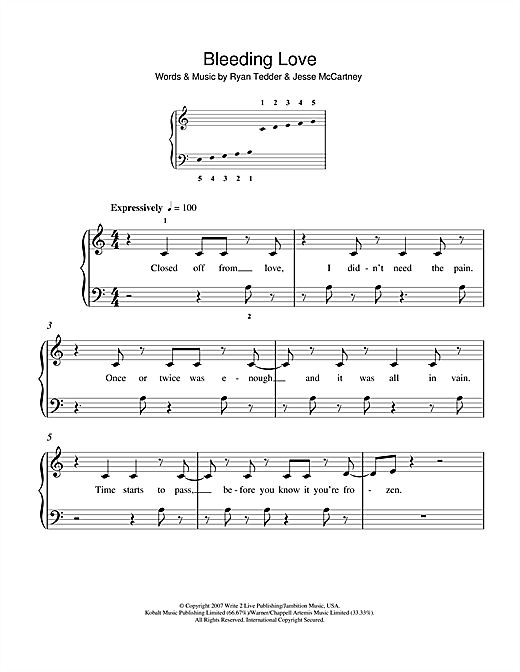Leona Lewis Bleeding Love sheet music notes and chords. Download Printable PDF.