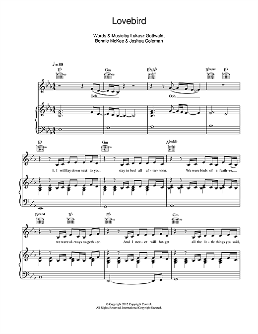 Leona Lewis Lovebird sheet music notes and chords. Download Printable PDF.