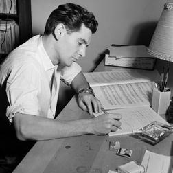 Download Leonard Bernstein 'Four Anniversaries, II. For Johnny Mehegan, June 6, 1920' Printable PDF 2-page score for Classical / arranged Piano Solo SKU: 89504.