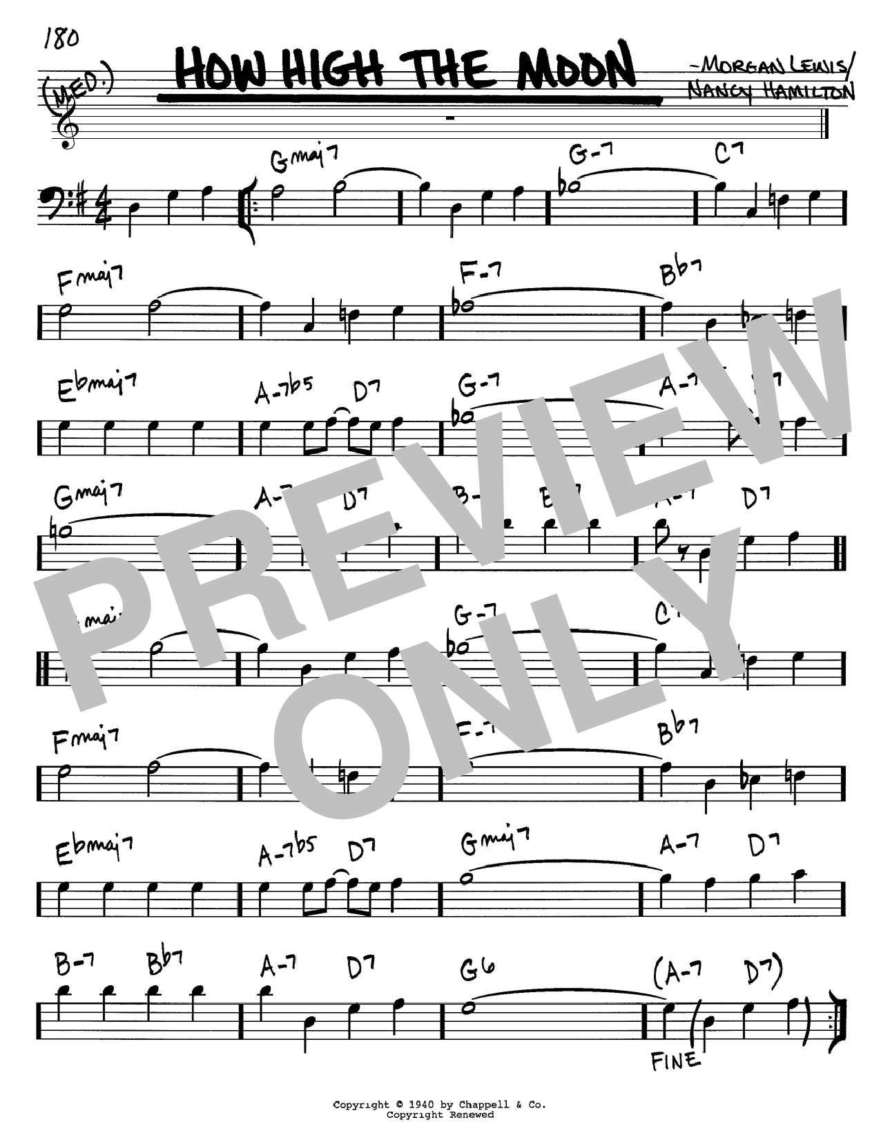 Les Paul How High The Moon sheet music notes and chords. Download Printable PDF.
