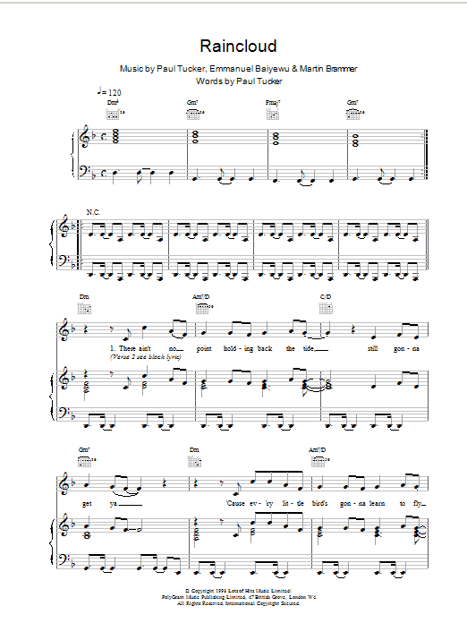 The Lighthouse Family Raincloud sheet music notes and chords. Download Printable PDF.