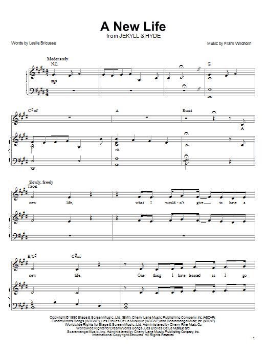 Linda Eder A New Life sheet music notes and chords. Download Printable PDF.