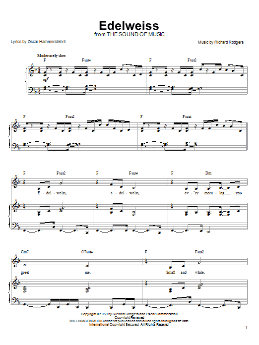 Linda Eder Edelweiss sheet music notes and chords. Download Printable PDF.