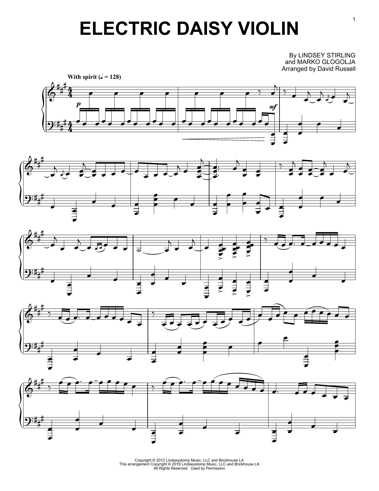 "Lindsey Stirling ""Electric Daisy Violin"" Sheet Music PDF Notes ..."