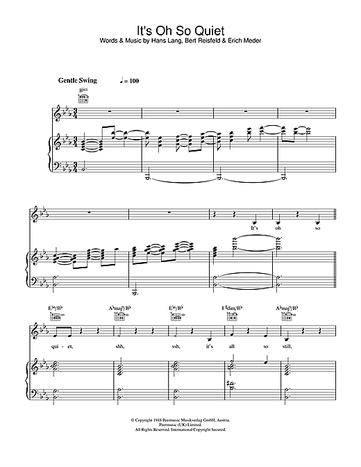 Lisa Ekdahl It's Oh So Quiet sheet music notes and chords