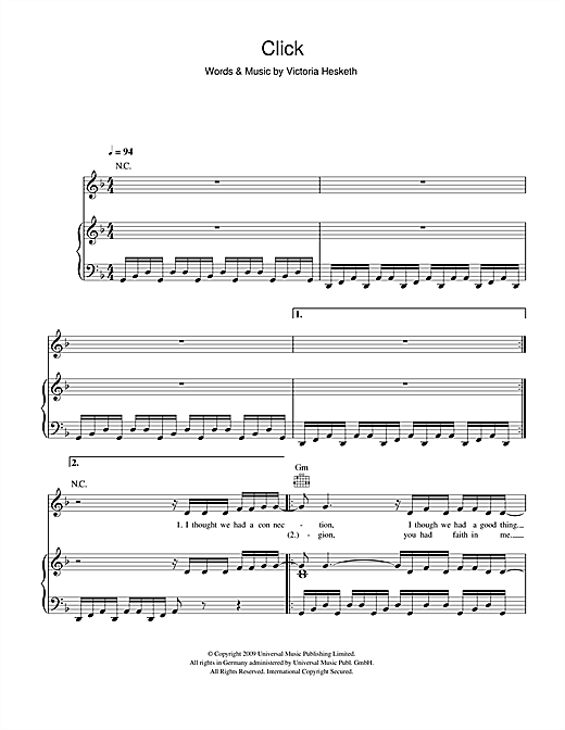 Little Boots Click sheet music notes and chords. Download Printable PDF.