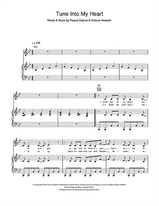 Little Boots Tune Into My Heart sheet music notes and chords. Download Printable PDF.