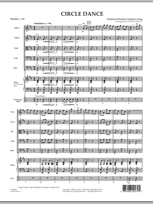 Lloyd Conley Circle Dance - Full Score sheet music notes and chords. Download Printable PDF.
