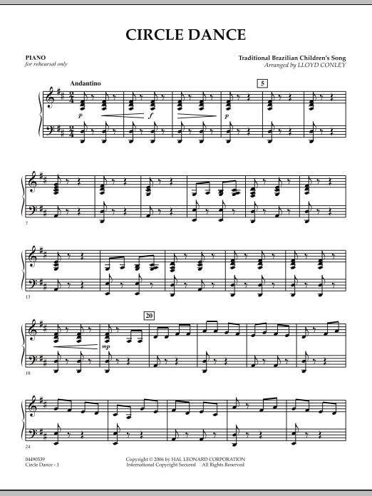Lloyd Conley Circle Dance - Piano sheet music notes and chords. Download Printable PDF.
