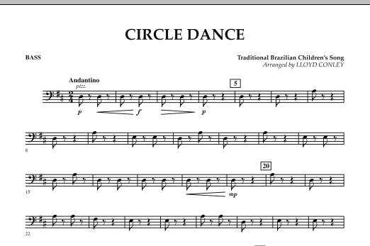 Lloyd Conley Circle Dance - String Bass sheet music notes and chords. Download Printable PDF.