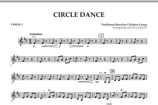 Lloyd Conley Circle Dance - Violin 2 sheet music notes and chords. Download Printable PDF.