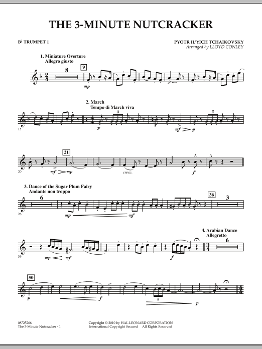 Lloyd Conley The 3-Minute Nutcracker - Bb Trumpet 1 sheet music notes and chords. Download Printable PDF.