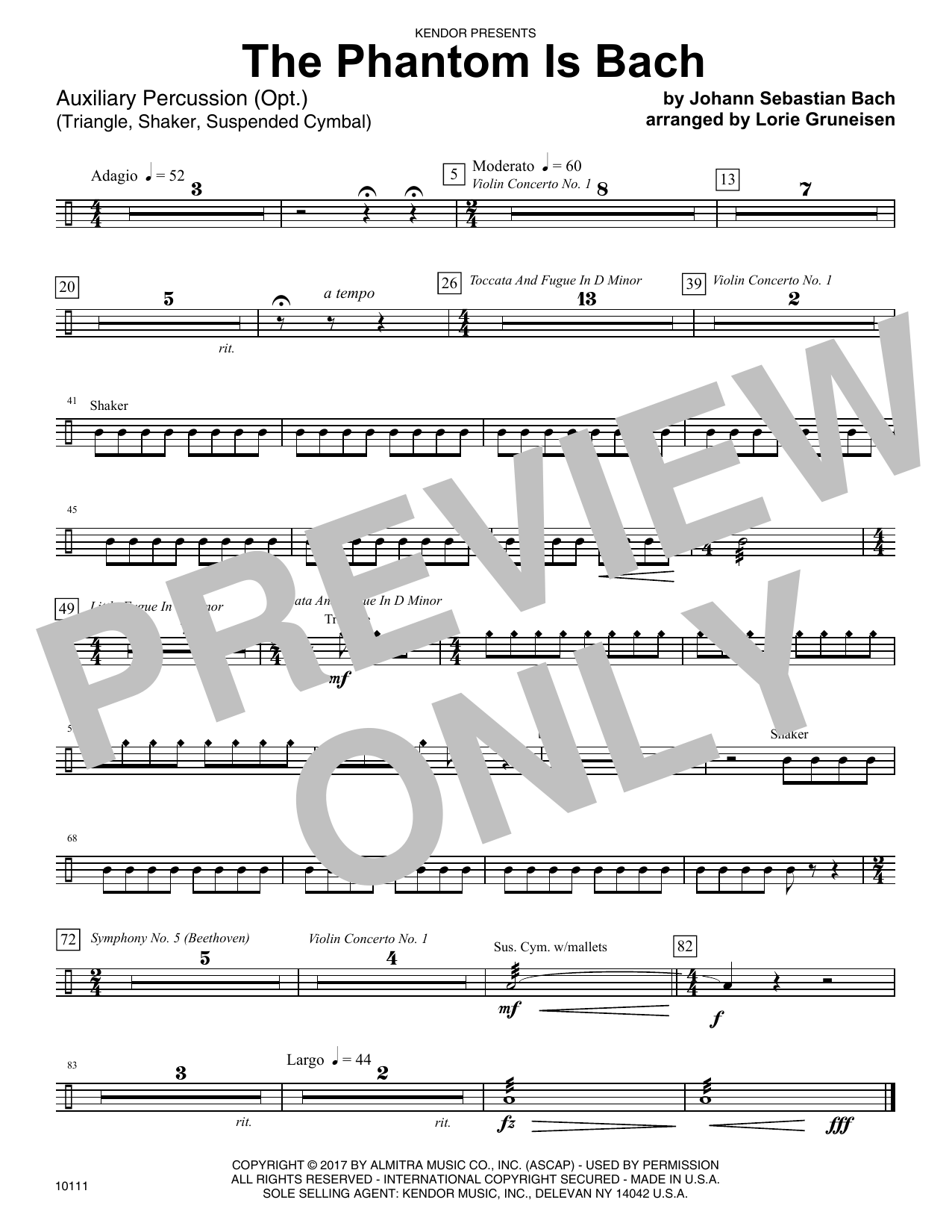 Lorie Gruneisen The Phantom Is Bach - Percussion sheet music notes and chords. Download Printable PDF.