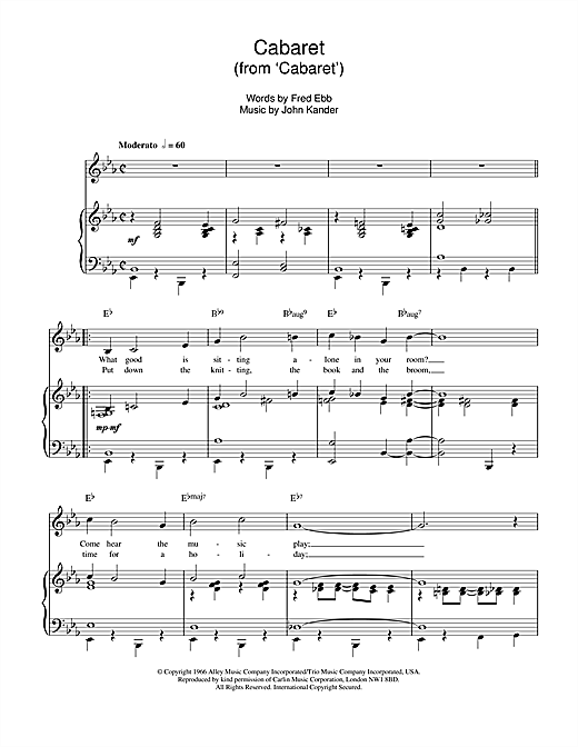 Louis Armstrong Cabaret sheet music notes and chords