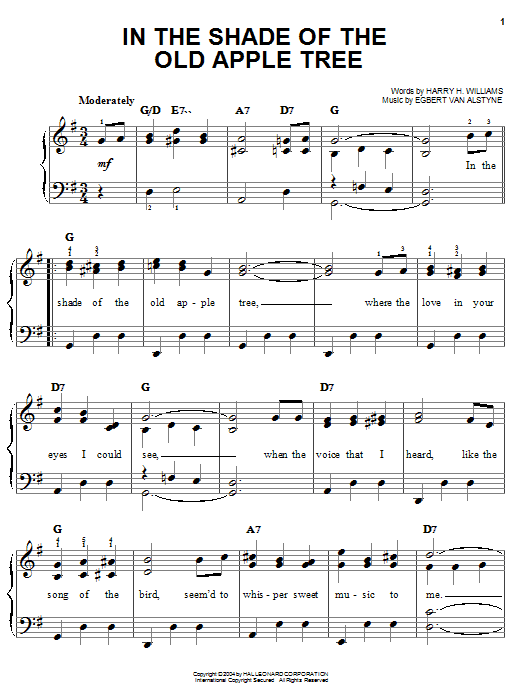 Louis Armstrong In The Shade Of The Old Apple Tree sheet music notes and chords. Download Printable PDF.