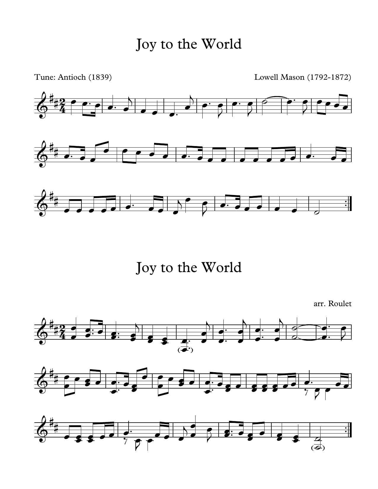 Lowell Mason Joy To The World (arr. Patrick Roulet) sheet music notes and chords. Download Printable PDF.
