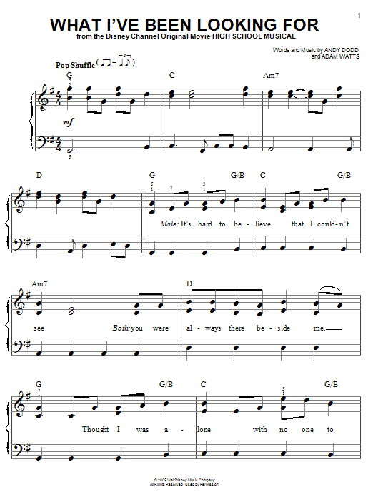 Lucas Gabreel What I've Been Looking For sheet music notes and chords
