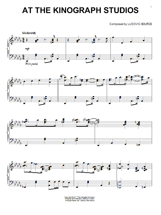 Ludovic Bource At The Kinograph Studios sheet music notes and chords. Download Printable PDF.