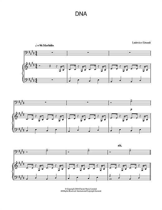 Ludovico Einaudi DNA sheet music notes and chords. Download Printable PDF.